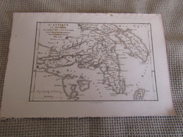 Carte L`Attique La Megaride Et Partie De L`ile D`Eubée  Pour Le Voyage Du Jeune Anacharsis Par J.D.Barbié Du Bocage 1785 - Cartes Géographiques