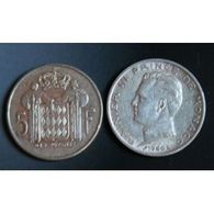 Pièce Monaco, 5 Francs, 1960 - 1960-2001 Franchi Nuovi