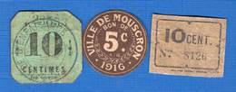 3  Bons  1914/18 - [ 3] Occupations Allemandes De La Belgique