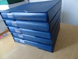 5 Lindner Binder Blau Mit Schuber Leer (9533) - Alben & Binder