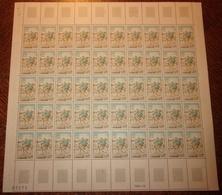 France 1972 Neuf** N° 1710 FACTEUR RURAL Feuille Complète (full Sheet) 50 Timbres - Feuilles Complètes