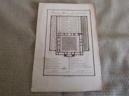Carte Plan D`Une Palestre Grecque ó Aprés Vitruve 1700s - Mappe