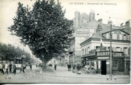 N°68811 -cpa Le Havre -boulevard De Strasbourg- Rare- - Le Havre