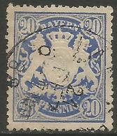 Bavaria - 1888 -1900 Arms 20pf Blue Used    SG 112 - Bavaria
