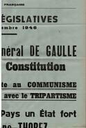 Documents GENERAL DE GAULLE Révision De La CONSTITUTION 10 Scans+ Dépliant 10 Vues Colombey+ 4 Documents Autres - Historische Documenten