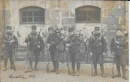 Photo Cpa Régiment Cyclistes à Lunéville-54-1910-soldats Gros Plan- écrite Dos - Régiments
