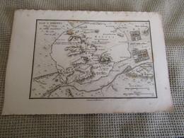 Carte Plan D`Athènes Pour Le Voyage Du Jeune Anacharsis 1784 - Cartes Géographiques
