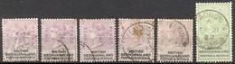 Bechuanaland - 1887 - Yt 11/16 - Victoria - Oblitérés - 1885-1895 Colonie Britannique