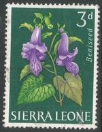 Sierra Leone. 1963 Flowers. 3d Used. SG 246 - Sierra Leone (1961-...)