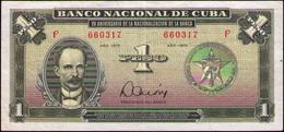 CUBA 1 PESO 1975 AN. BANCA AU-EBC+ - Cuba