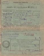 ***  Carte   Permis De Circulation Transport De Personnes Bordeaux 1933 - - Titres De Transport