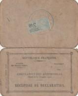 ***  Carte   Permis De Circulation Transport De Personnes Bordeaux 1930 Le Prefet Des  Landes -BERLIER - Titres De Transport