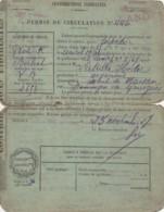 ***  Carte   Permis De Circulation Transport De Personnes Bordeaux 1927 Le Prefet Des  Landes - TORPEDO - Titres De Transport