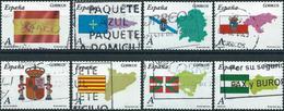 Spain 2009 - Flags Of Autonomous Provinces ( Mi 4374/81 - YT 4079/86 ) Complete Issue - 1931-Today: 2nd Rep - ... Juan Carlos I