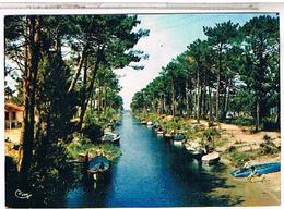 40 BISCAROSSE CANAL DE NAVAROSSE 1962 - Biscarrosse