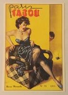 PARIS TABOU REVUE MENSUELLE ILLUSTRATA BOCCASILE, NUOVA FG - Advertising