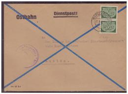 GG (007500) Brief, Dienstpost Ostbahn Vorgedruckter Umschlag, Gelaufen An Sondergericht Von Warschau Am 21.9.1942 - Besetzungen 1938-45