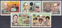 Elfenbeinküste Ivory Coast Cote D'Ivoire 1978 Persönlichkeiten Nobelpreis Nobel Chemie Medizin UNICEF, Mi. 546-0 ** - Côte D'Ivoire (1960-...)