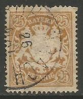 Bavaria - 1888 -1900 Arms 25pf Yellowish-orange Used    SG 114 - Bavaria
