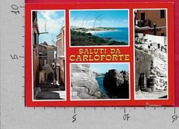 CARTOLINA VG ITALIA - CARLOFORTE (CI) - Isola Di San Pietro - Vedutine Multivue - 10 X 15 - ANN. 1983 - Carbonia