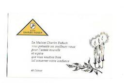 MAISON CHARLES PADUCH COLMAR CARTE DE VOEUX - Advertising