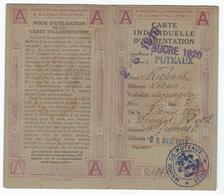 PUTEAUX (92) - Carte D'Alimentation De Sucre De Décembre 1918 - Historische Dokumente
