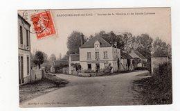 CPA 61 - Bazoches Sur Hoene - Routes De La Meunière Et De Sainte Scolasse , Café - Bazoches Sur Höne