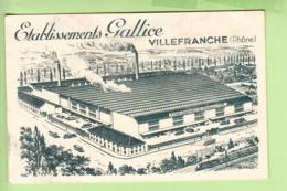 VILLEFRANCHE Sur SAONE - Lot De 2 CPA : Etablissements GALLICE , Manufacture De Vêtemnts De Travail - 4 Scans - Villefranche-sur-Saone