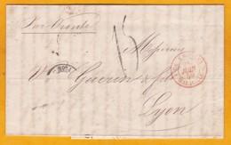 1859 - LAC En Français De Naples (royaume Des 2 Siciles) Vers Lyon Via Marseille Sur Vapeur Oronte - Commerce De Soie - Postmark Collection (Covers)