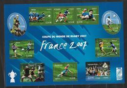 France 2007 Bloc Feuillet N° 110 Neuf Coupe Du Monde De Rugby à La Faciale - Sheetlets