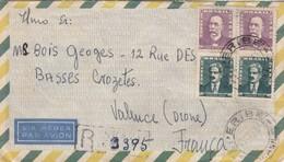 LETTRE. COVER.  1955. BRASIL. PAR AVION. REGISTERED APERIBE TO FRANCE - Ohne Zuordnung