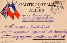TB 2440 - MILITARIA - Carte En Franchise Militaire - Mr R. LERATE à BRIE - COMTE - ROBERT - Marcophilie (Lettres)