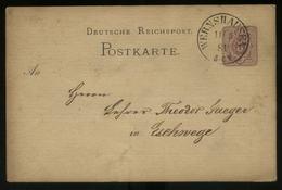 S2693 DR Pfennig GS Karte: Gebraucht Wernshausen - Eschwege 1881, Bedarfserhaltung. - Deutschland