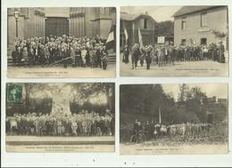 80 - QUIRY FOLLEVILLE - 11 CP - Colonies Amienoises Aout 1909 Et 1912 Animé Des Cp Avec Petit Défaut Sinon Bon Voir Scan - France