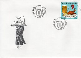 CZECH REPUBLIC  -  2005 EUROPA Stamps - Gastronomy  FDC5814 - FDC