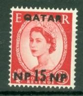 Qatar: 1960   QE II    SG24   15n.p. On 2½d    MNH - Qatar