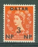 Qatar: 1957/59   QE II    SG2   3n.p. On ½d    MH - Qatar