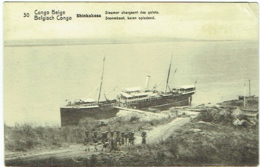 Congo Belge.Shinkakasa. Steamer Chargeant Des Galets. - Congo - Brazzaville