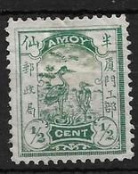 1895 CHINA AMOY LOCAL POST 1/2 Two Egrets UNUSED CHAN LA1 - Chine