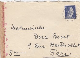 LETTRE. COVER. 1942. THANN ELSASS GERMANY TO FRANCE . GERMAN CENSOR. CORRESPONDANCE - Ohne Zuordnung