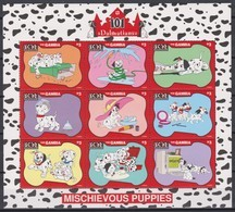 2462 B -  The GAMBIA - Disney - 1997 - 101 Dalmatiërs ( Speelse Puppy's ). - Disney