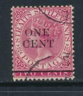 STRAITS SETTLEMENTS, 1892 1c On 2c Superb, Cat £5 - Straits Settlements