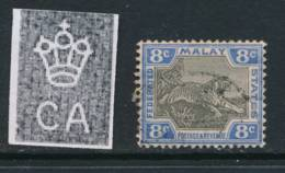 MALAYA, 1900 8c Grey Very Fine, SG19a, Cat £11 - Federated Malay States