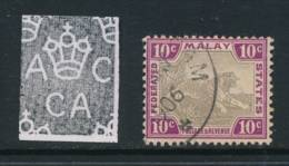 MALAYA, 1904, 10c Grey-brown & Purple Very Fine, SG43c - Federated Malay States