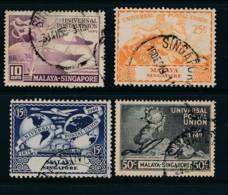 Singapore, 1949, UPU Set Very Fine, Cat £12 - Singapore (...-1959)