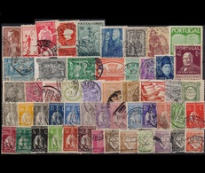PORTUGAL COLLECTION OF 53 DIFFERENT OLD USED STAMPS - Collections