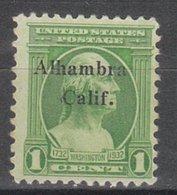 USA Precancel Vorausentwertung Preo, Locals California, Alhambra L-14 TS - Etats-Unis