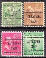 USA Precancel Vorausentwertung Preo, Locals California, Altadena 724, 4 Diff. - Etats-Unis