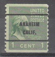 USA Precancel Vorausentwertung Preo, Bureau California, Anaheim 839-61 - Vereinigte Staaten