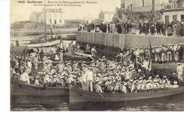Cpa Quiberon, Exercice De Débarquement Des Escadres. - Guerre
